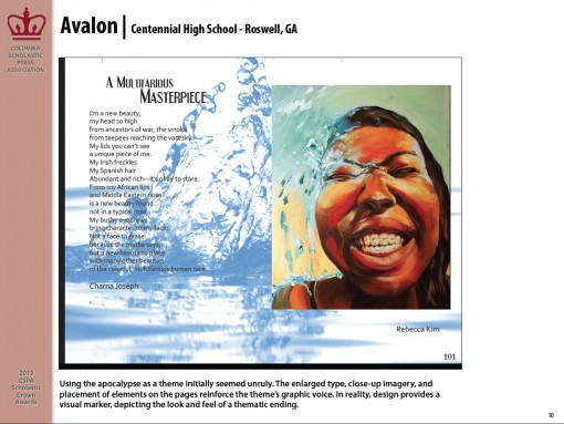 Avalon Magazine, Centennial High School, Roswell, GA