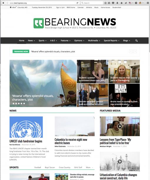 Bearing News | bearingnews.org, Rock Bridge High School, Columbia, MO.