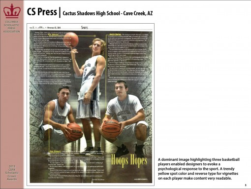 CS Press Newspaper, Cactus Shadows High School, Cave Creek, AZ