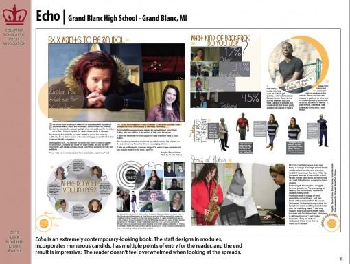 Echo Newspaper, Grand Blanc High School, Grand Blanc, MI