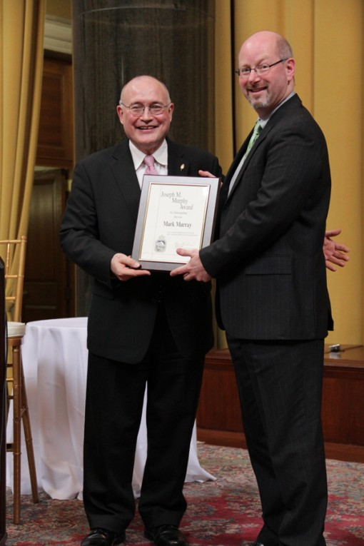 Mark Murray 2012 Murphy Award recipient.