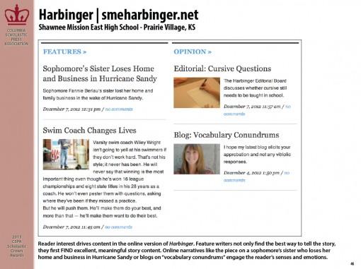 Harbinger | smeharbinger.net, Shawnee Mission East High School, Prairie Village, KS