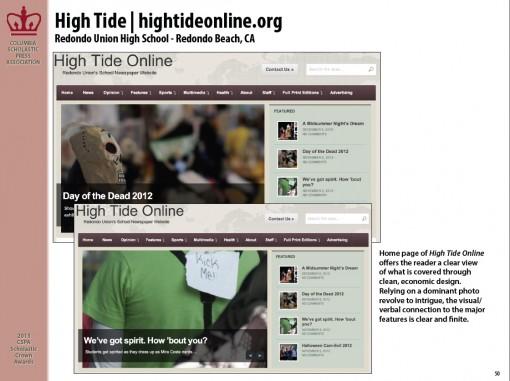 High Tide | hightideonline.org, Redondo Union High School, Redondo Beach, CA