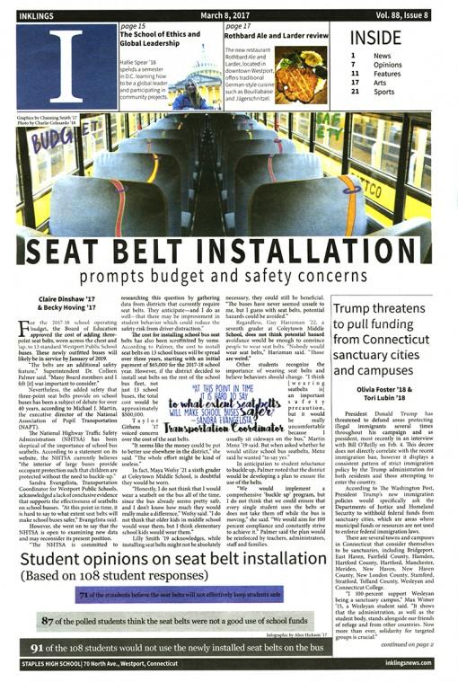 Inklings | inklingsnews.com, Staples High School, Westport, CT