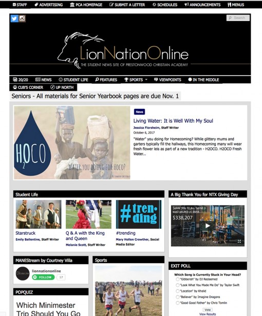 Lion Nation Online | lionnationonline.org, Prestonwood Christian Academy, Plano, TX
