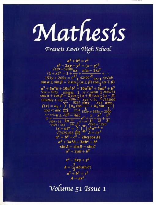 Mathesis, Francis Lewis High School, Flushing, NY