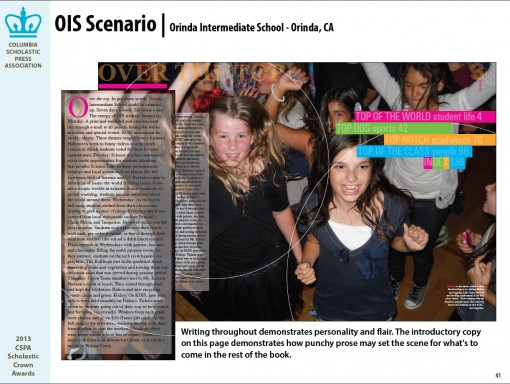 OIS Scenario Yearbook, Orinda Intermediate School, Orinda, CA