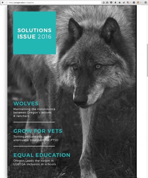 OR Magazine | ormagazine.uoregon.edu, University of Oregon, Eugene, OR.