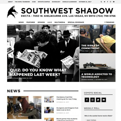 Southwest Shadow | southwestshadow.com, Southwest Career and Technical Academy, Las Vegas, NV