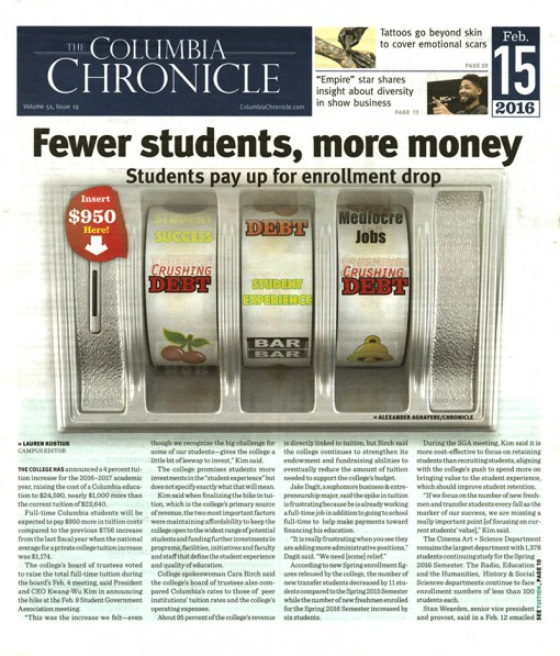 The Columbia Chronicle-Columbia College Chicago