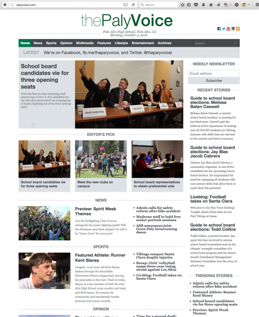 The Paly Voice | palyvoice.com, Palo Alto High School, Palo Alto, CA.
