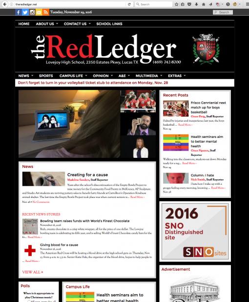 The Red Ledger | theredledger.net, Lovejoy High School, Lucas, TX.