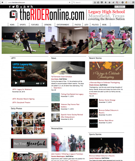 The Rider Online | therideronline.com, Legacy High School, Mansfield, TX.