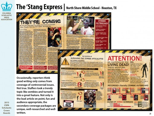 The 'Stang Express Newspaper, North Shore Middle School, Houston, TX