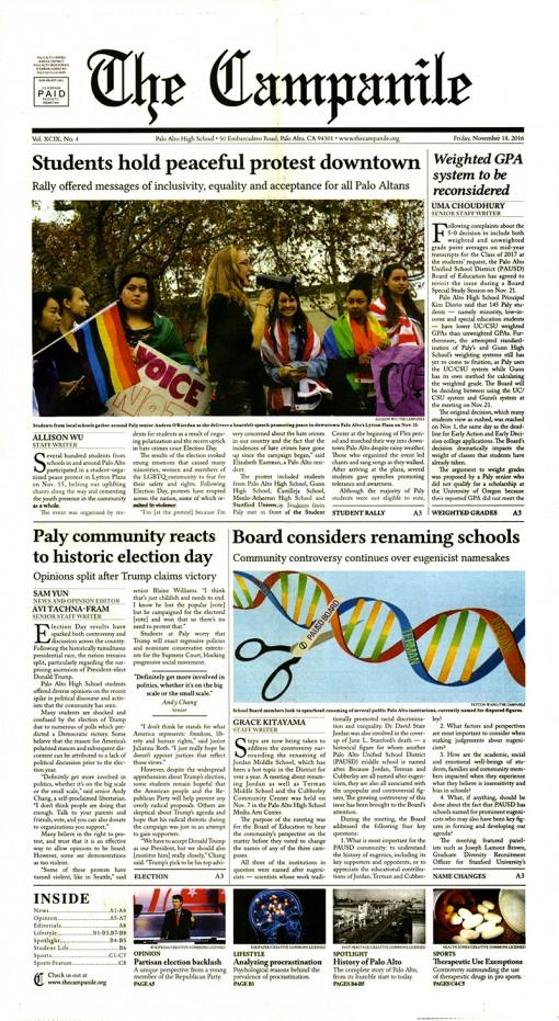 The Campanile | thecampanile.org, Palo Alto High School, Palo Alto, CA