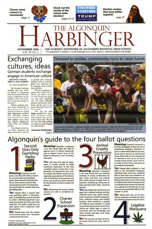 The Harbinger | arhsharbinger.com, Algonquin Regional High School, Northborough, MA