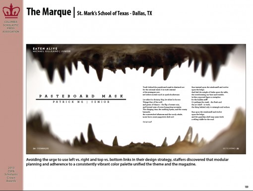 The Marque Magazine, St. Mark's School of Texas, Dallas, TX