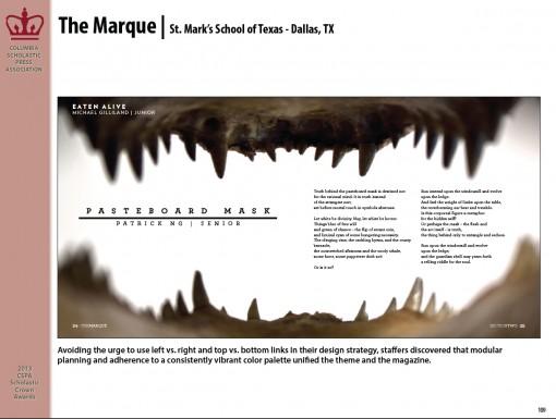 The Marque Magazine, St. Mark's School of Texas, Dallas, TX
