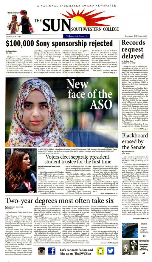 The Sun | theswcsun.com, Southwestern College, Chula Vista, CA