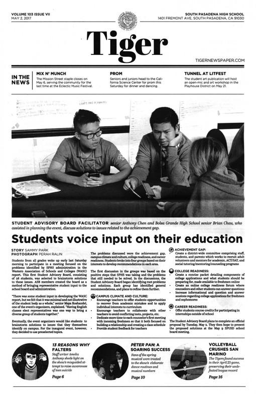 Tiger | tigernewspaper.com, South Pasadena High School, South Pasadena, CA