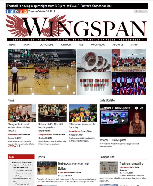 Wingspan | libertywingspan.com, Liberty High School, Frisco, TX