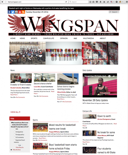 Wingspan | libertywingspan.com, Liberty High School, Frisco, TX.