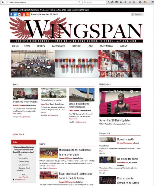 Wingspan | libertywingspan.com, Liberty High School, Frisco, TX.