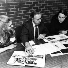 1980 James F. Paschal offers students tips on improving their yearbook in a on-site critique.