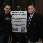 Aaron Manfill, 2011 DJNF teacher of the year with CSPA Executive Director Ed Sullivan.