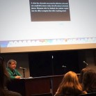 Kathy Neumeyer teaching a session at the 2014 High School Convention. Photo by Tynin Fries.