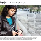 Wings Yearbook, Arrowhead Christian Academy, Redlands, CA
