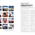 "2014 Gold Circle — College Yearbook Student Life Single Spread Y28, Emperatriz Herrer and Lauren Pape, ""Instant Creativity,"" La Ventana, Texas Tech University, Lubbock, TX."