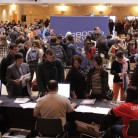 Registration at the 2014 High School Convention. Photo by Jake Palenske.